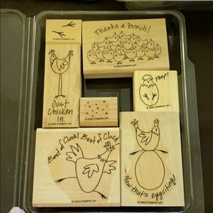 """2005 Stampin' Up! """"Best of Cluck"""" 7 pc set"""